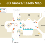 Kiosk locations in the Johnson Center